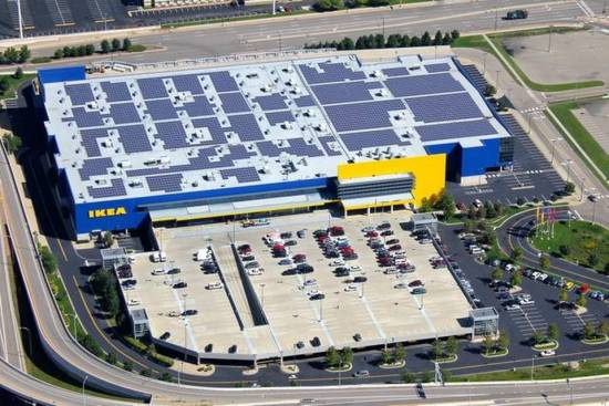 Solar Panels on an IKEA Superstore